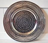 Dekoteller !! ca. 38cm !! Platzteller Teller Tablett Alu Deko Dekoration Edel Deko Aluminium silber