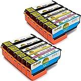 Gohepi Ersatz für Epson 26 26XL Druckerpatronen Hohe Kapazität Kompatibel mit Epson Expression Premium XP-520 XP-610 XP-605 XP-620 XP-510 XP-800 XP-600 XP-615 XP-700 XP-710 XP-720 XP-810 XP-820 XP-625