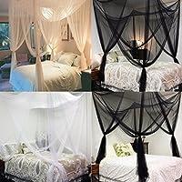 Zantec® - Mosquitera de 4 esquinas para cama de tamaño queen, tamaño king