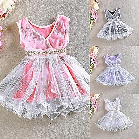 Calli Bebé cabrito chica lentejuelas vestido de Tulle de la falda del vestido de la princesa boda del