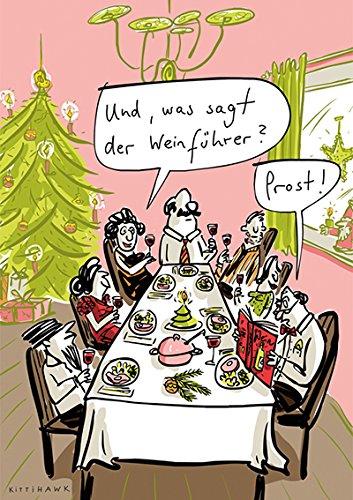Postkarte A6 • 61023 ''Weinführer'' von Inkognito • Künstler: Kittihawk • Cartoons • Weihnachten