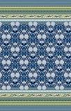 Bassetti Granfoulard.- Colcha copriletto Loto V3 azul para cama de 180, en medida 265 x 255 cm