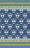 Bassetti 9235704 Tagesdecke, Loto V3, Baumwolle, Sondergrößen 255 x 265 x 0,5 cm, blau in