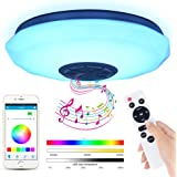 LED Ceiling Lights for Bedroom, 36W Music Ceiling Light with Remote Control & APP, RGB Ceiling Light with Bluetooth Speaker,