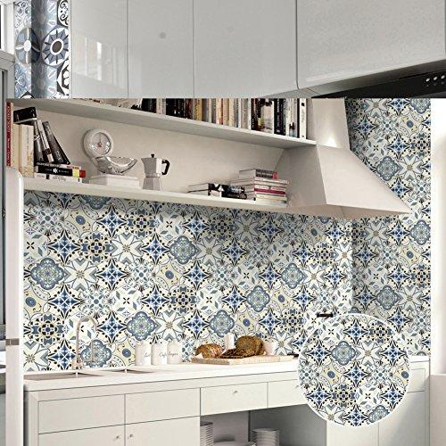 Preisvergleich Produktbild Fliesenaufkleber Sundlight 3D Fliesensticker für Küche Wohnzimmer Schlafzimmer PVC Klebefliesen 20cm * 500cm-B