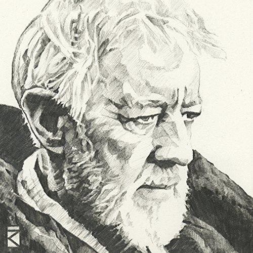 "Star Wars \""Obi-Wan Kenobi Sketch, 30 x 30 cm, Leinwanddruck, Mehrfarbig"