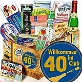 Wilkommen im Club 40 - Geschenke zum 40 Geburtstag - DDR Spezialitäten-Geschenk