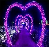 LUCKY CLOVER-A 20 Meter 200 LEDs Fairy String Licht Fenster Vorhang Hochzeit Party Halloween Christmas Garten Schlafzimmer Outdoor Indoor Wall Dekorationen (lila, 8 Modi, Tail Stecker)
