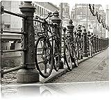 Fahrrad Bahnhof BMX Bahnschiene Format: 120x80 cm auf Leinwand, XXL riesige Bilder fertig gerahmt mit Keilrahmen, Kunstdruck auf Wandbild mit Rahmen, günstiger als Gemälde oder Ölbild, kein Poster oder Plakat