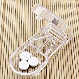 Pill Splitter with 1 Storage Compartment | Safe Design with Retracted Blade |