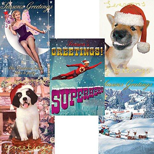 Assorted Packung mit 5 Weihnachtskarten von gestaltet Max Hernn