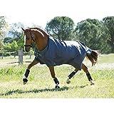 Horseware Amigo Turnout Hero 6 Lite Black with Purple & Mint Weidedecke 115-160 (125)