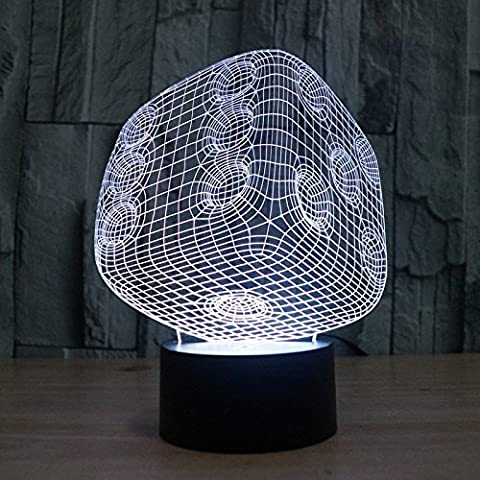 Stecker, bunten Farbverlauf Illusion touch 3D Stereo Beleuchtung Lampe LED Licht Acryl Licht Energie sparende (Illusion Glas Schiff)