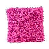KissenbezüGe Set Kissen Fall Sofa Schlafzimmer Auto Baumwoll-Kissen Geschenk-Kissen Dekokissen Cafe Home Decor Kissenbezug Schlafsofa Soft Solid Dekorative Weihnachten(Pink,43cm*43cm)