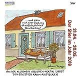 Stier Mini 2018: Sternzeichenkalender-Cartoon - Minikalender im praktischen quadratischen Format 10 x 10 cm.