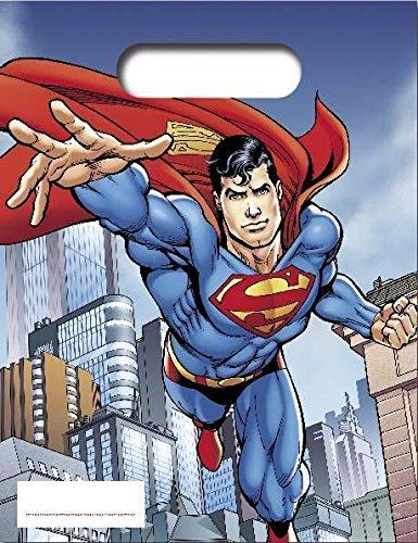 Borse Partito Unico Superman Partito (confezione da (Sacchetti Di Favore Di Plastica)