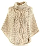 Charleselie94 - Poncho Pull Cape Laine Alpaga Epais Hiver 36/48 - ELODIE - Femme - CharlesElie94 - Beige 44