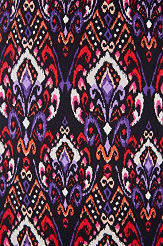 Roman Originals Damen Maxi-Rock, Jersey, Bordüren-Print, Multicolour Mehrfarbig