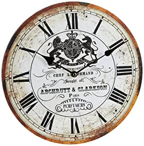 Horloge murale 30cm nostalgie cuisine tinas collection for Pendule de cuisine amazon