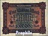 Deutsches Reich Rosenbg: 85a, Wasserzeichen Hakensterne, braunes Firmenzeichen 1923 1 Mio. Mark (Banknoten für Sammler)