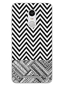 RedMi Note 3 Back Cover - Zigzag Lines - Zigzag Pattern - Abstract Pattern - Designer Printed Hard Shell Case