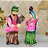 TiedRibbons Punjabi Couple Bhangra Dancing Showpiece Figurine Decoration Handicraft Collectibles Figurines Showpiece Statue Items For Drawing Room Living Room Office Bed Room Hall Home Decor And House Warming Gifts