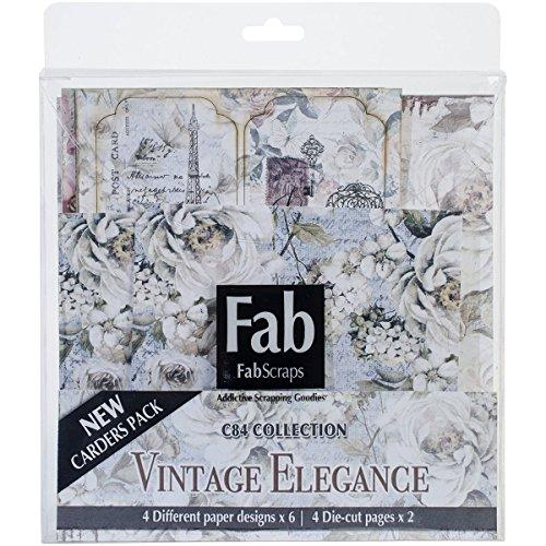 Fabscraps Fabscraps Vintage Elegance Kit de tarjeta