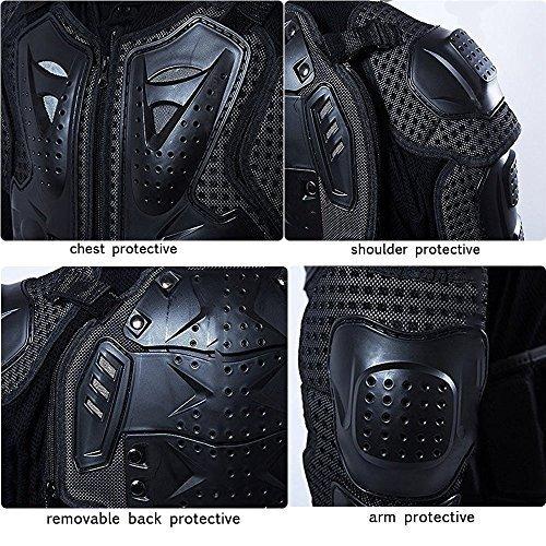 Veste Armure Moto Blouson Motard Gilet Protection Équipement de Moto Cross  Scooter VTT Enduro Homme ou Femme (Rouge, L) ... ec677b5ea255