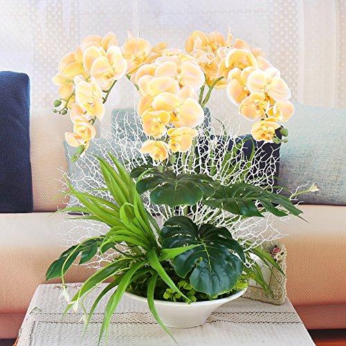 Fiori artificiali Pot la falena Orchid Tabella impostazioni,color champagne (panno di seta)