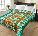 #1: Christy's Collection Super Soft Printed Cotton Blend AC Double Blanket - Multicolor