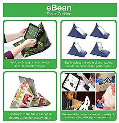 eBean Tablet Cushion - beanbag stand lap holder suitable for all iPads tablets and ebook readers - inexpensive UK light shop.