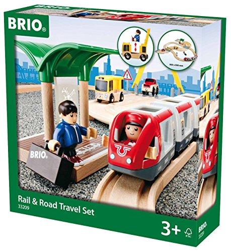 Brio 33209 - Straßen und Schienen Reisezug Set