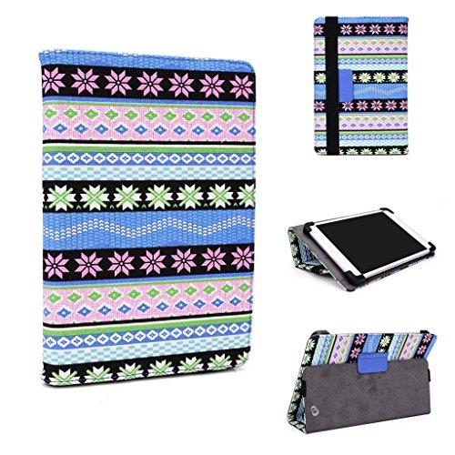 Kroo Universal Leder Fall kompatibel mit LG G Pad 7.0Für viele 17,8–20,3cm Tablet Fall mehrfarbig blau
