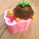 Bluelover 3D-Schildkröte-Frosch-Silikon Fandant Mold Schokoladen-Seifen-Form-