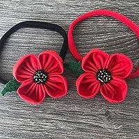 Remembrance Day British Legion Poppy Flower Headband