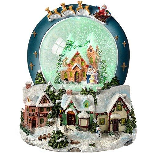 WeRChristmas - Bola de nieve con música e iluminación (20 cm), diseño...