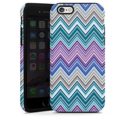 Apple iPhone 5 Housse étui coque protection Zigzag couleurs Motif mode Cas Tough terne