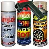 Neon Lack Spray SET Rot 3 Spraydosen a 400ml + Spraydosen Handgriff