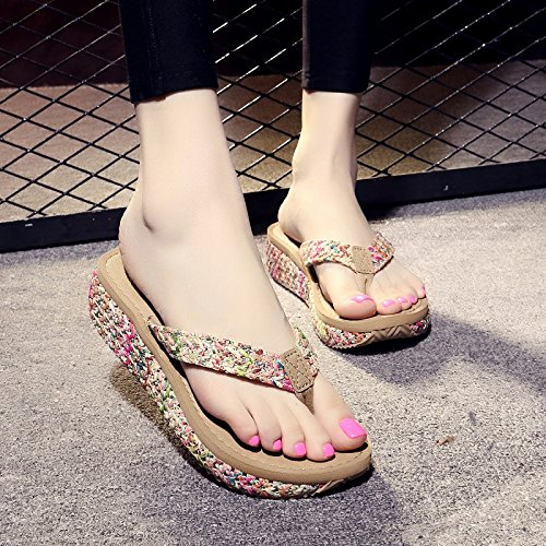 FLYRCX Ladies' estate vacanze in spiaggia alla moda di flip flop beach piste toe flip flip flop a