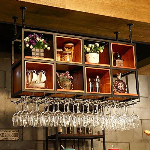BTJJ European-Style Hängen Massivholz Weinregal Weinregal Kopf Racks Kreative Weinregal Hohe...