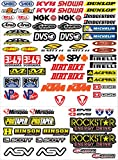 GamesMonkey Lot de 73 autocollants pour moto, motocross, scooter