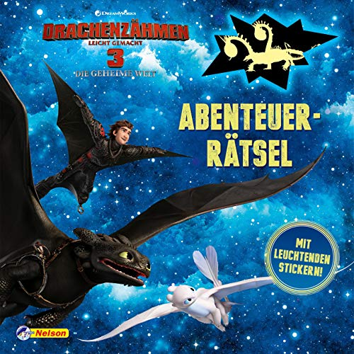 DreamWorks Dragons: Drachenzähmen leicht gemacht 3: Abenteuerrätsel: Mit leuchtenden Stickern!