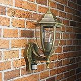 Antik Leuchte mit Bewegungsmelder IP43 E27 230V Außenleuchte Wandlampe Wandleuchte Beleuchtung Hof Garten Aussen Sensor