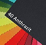 OXFORD 600D Farbe 40| ANTHRAZIT Polyester Stoff 1 lfm