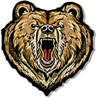 Hot Leathers, BEAR, Iron-On / Saw-On High Thread Embroidered Rayon PATCH toppa - 4