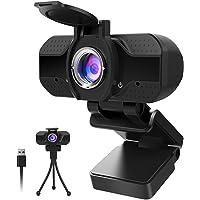 1080P Webcam mit Mikrofon und Datenschutz, 1080P HD USB Webkamera mit Stativ, Streaming-Webcam für Live-Streaming…