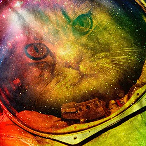 Astronaut Platz Farbe Katze Platz Haustier Damen Schwarz S-2XL Muskelshirt   Wellcoda Marine