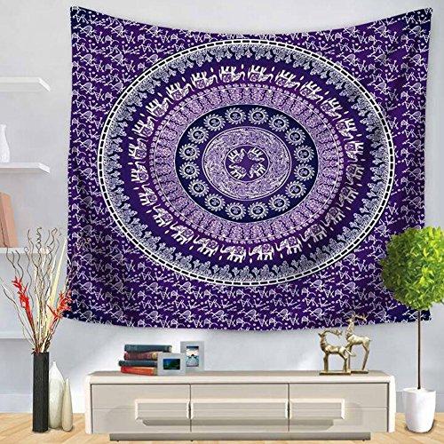 WANGXN Plage Tapisserie Mur Mandala Imprimé Plage Serviette Assis Couverture Chambre Dortoir Tapisseries,Color1,150X130CM
