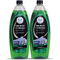 Wavex® Foam Wash Car Shampoo 1 LTR + 1 LTR (Set of Two) pH Neutral, Extreme Suds Snow White Foam, Highly Effective on Dust and Grime