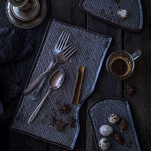 LI plaque- Assiette de salade en forme de 8 pouces Restaurant créatif Ensemble Assiette Cake Snack Personnalité Peint à la main En Céramique Vaisselle Ménage Plat tableware (taille : 29×16cm)